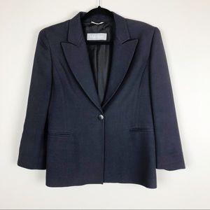 MaxMara Navy Blue Single Button Blazer Jacket Coat